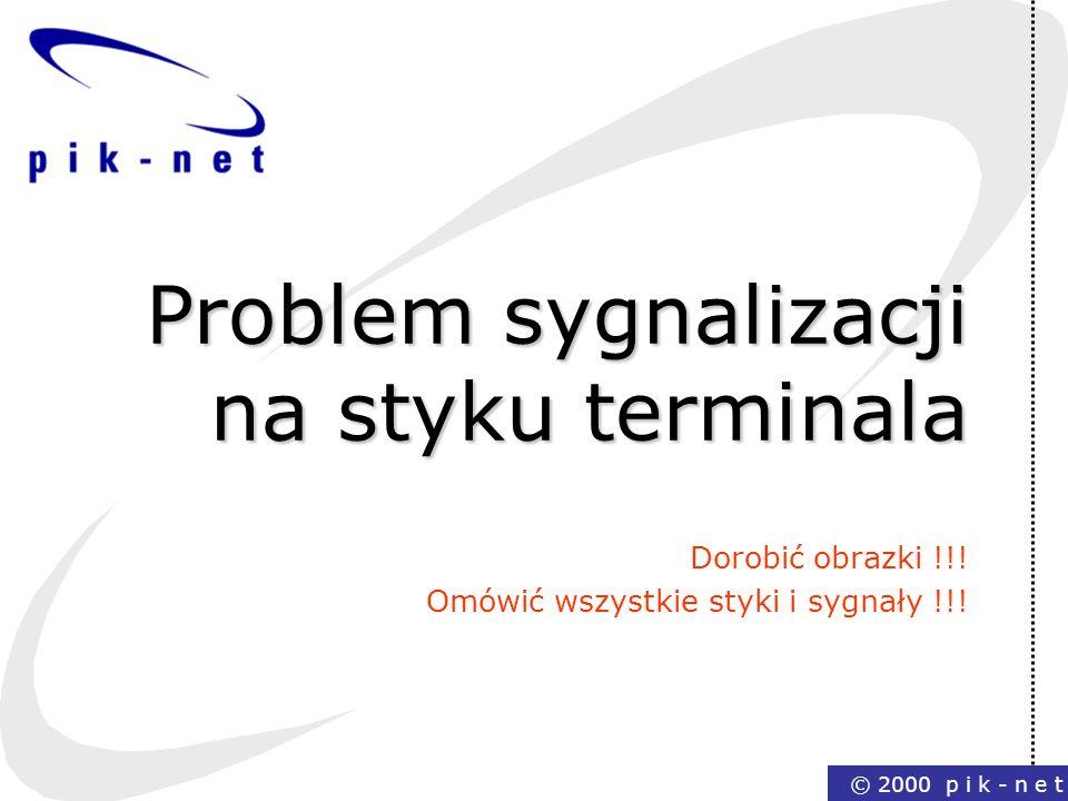 Problem sygnalizacji na styku terminala