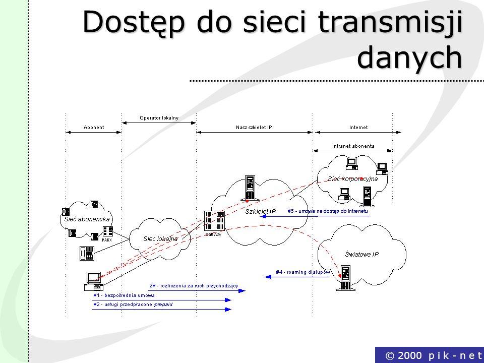 Dostęp do sieci transmisji danych