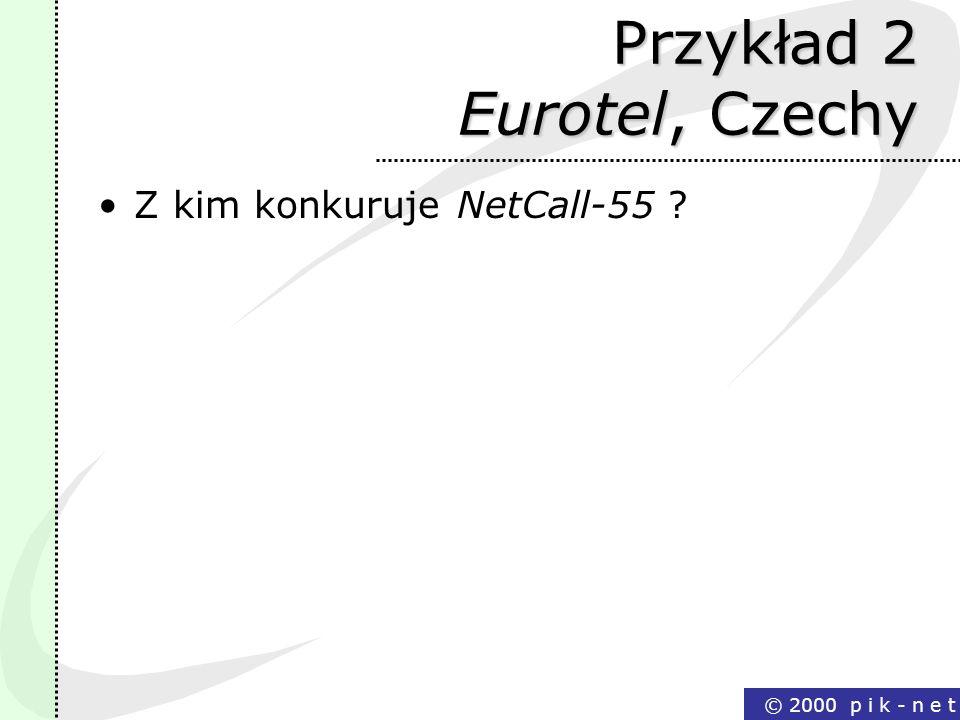 Przykład 2 Eurotel, Czechy