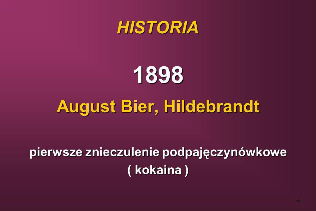 August Bier, Hildebrandt pierwsze znieczulenie podpajęczynówkowe
