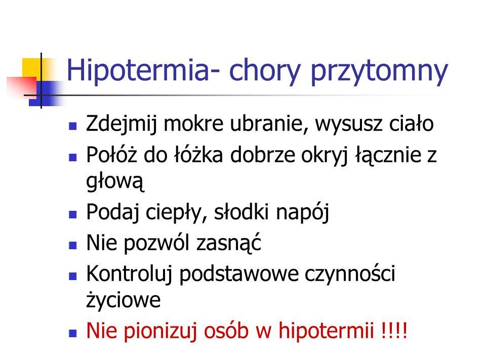 Hipotermia- chory przytomny