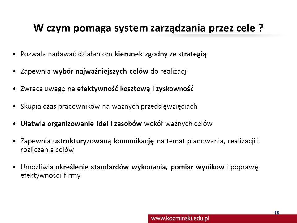 W czym pomaga system zarządzania przez cele