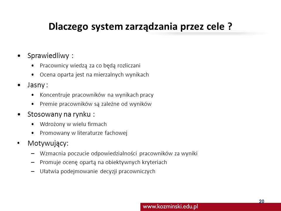 Dlaczego system zarządzania przez cele