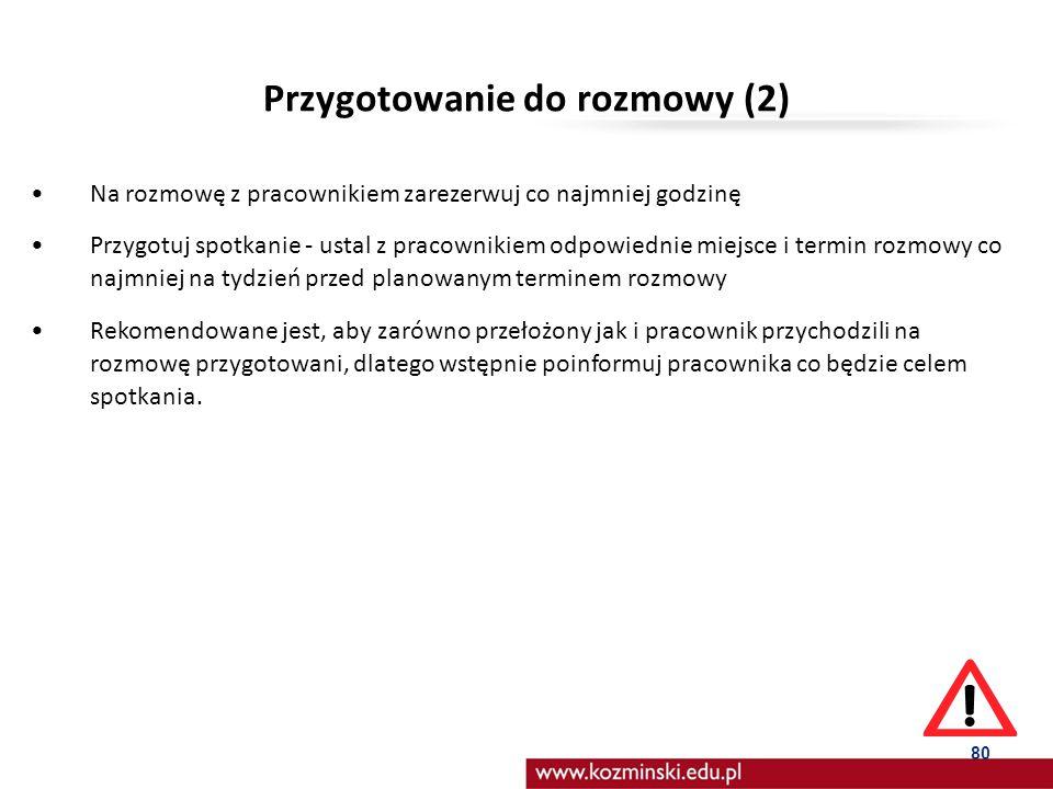 Przygotowanie do rozmowy (2)