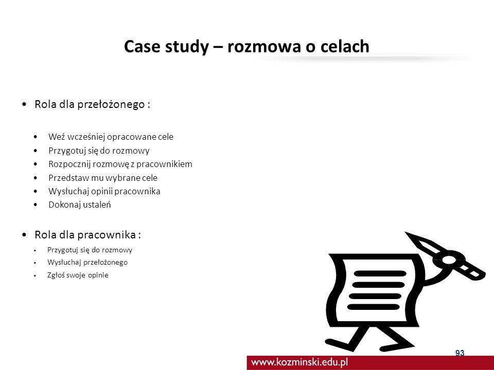 Case study – rozmowa o celach