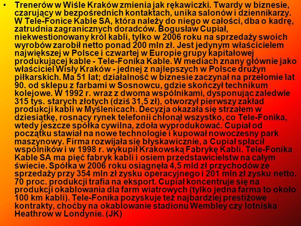 Trenerów w Wiśle Kraków zmienia jak rękawiczki
