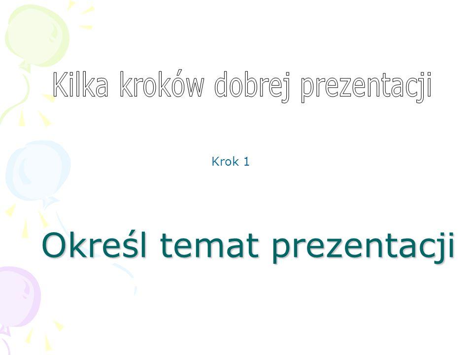 Określ temat prezentacji