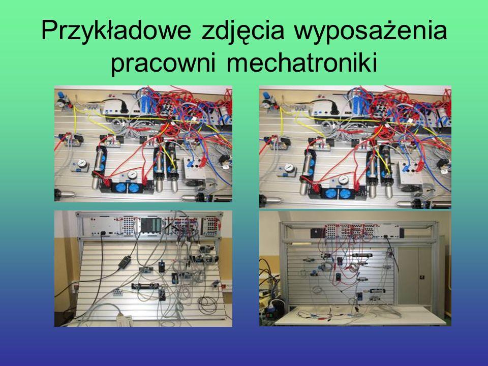 Przykładowe zdjęcia wyposażenia pracowni mechatroniki
