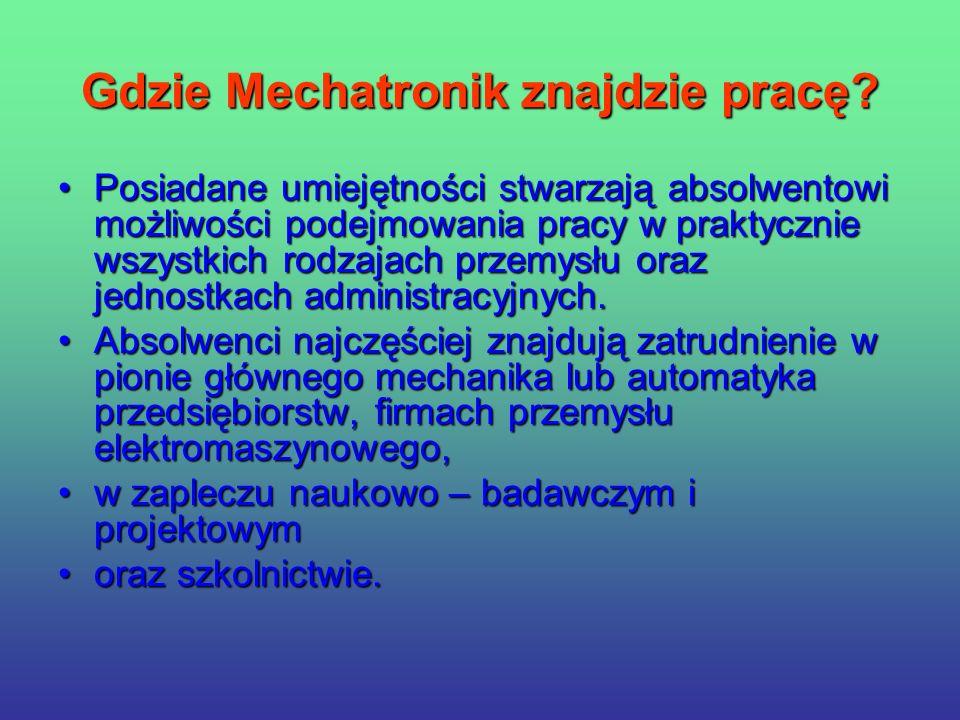 Gdzie Mechatronik znajdzie pracę