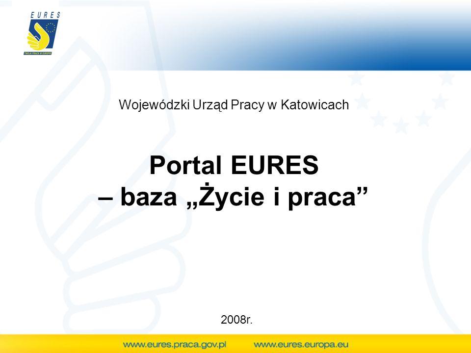 """Portal EURES – baza """"Życie i praca"""