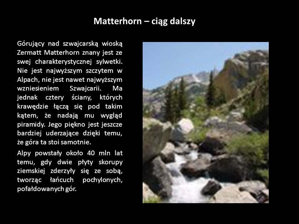Matterhorn – ciąg dalszy