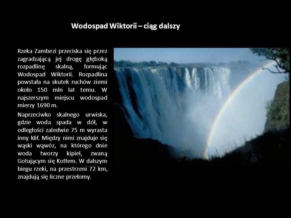 Wodospad Wiktorii – ciąg dalszy