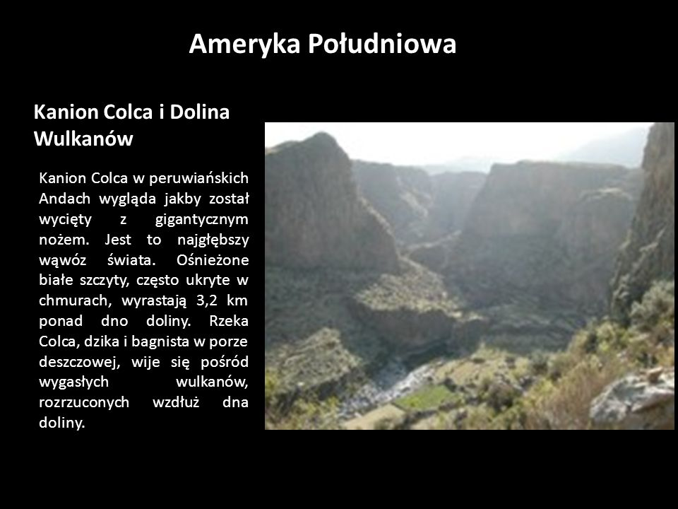 Kanion Colca i Dolina Wulkanów