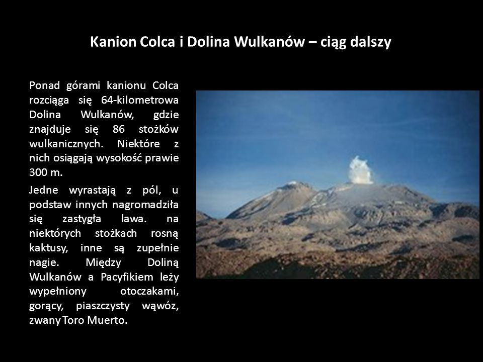 Kanion Colca i Dolina Wulkanów – ciąg dalszy