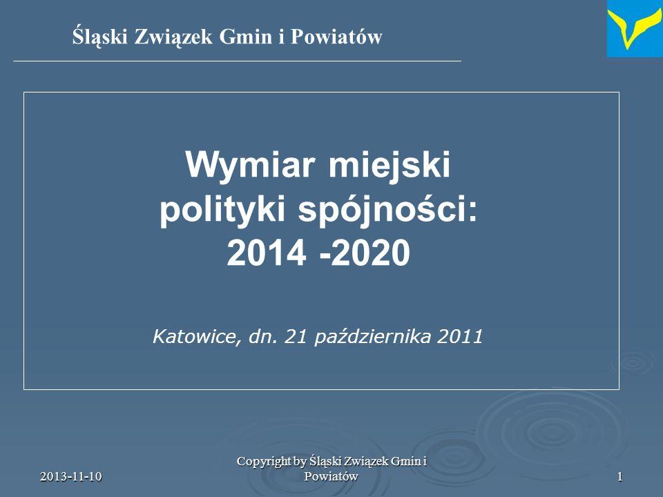 Wymiar miejski polityki spójności: