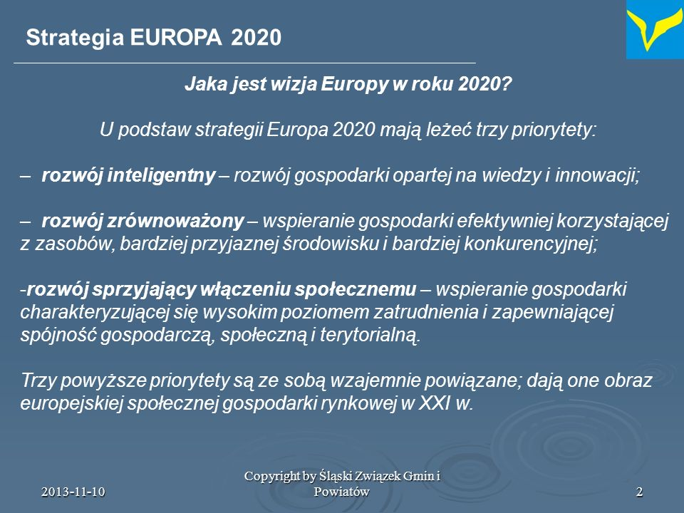 Jaka jest wizja Europy w roku 2020