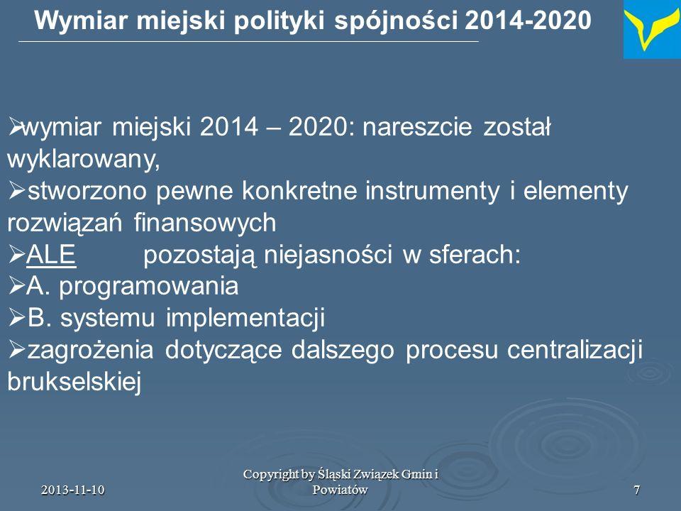 Wymiar miejski polityki spójności 2014-2020