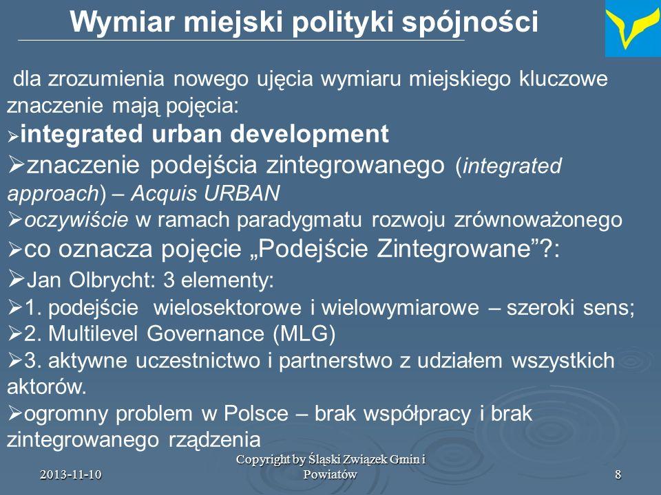 Wymiar miejski polityki spójności