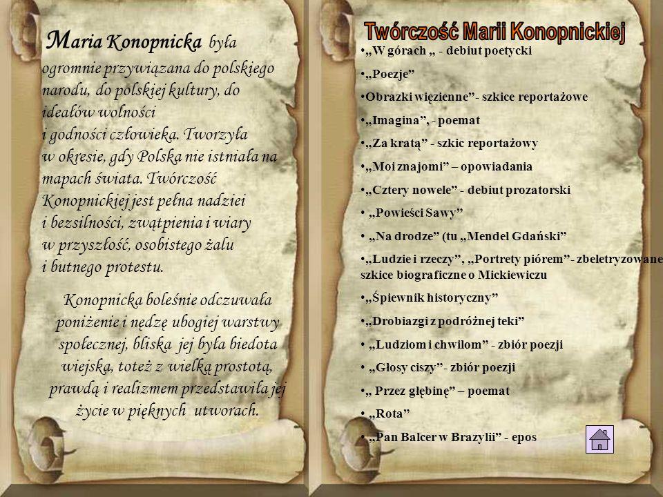 Twórczość Marii Konopnickiej