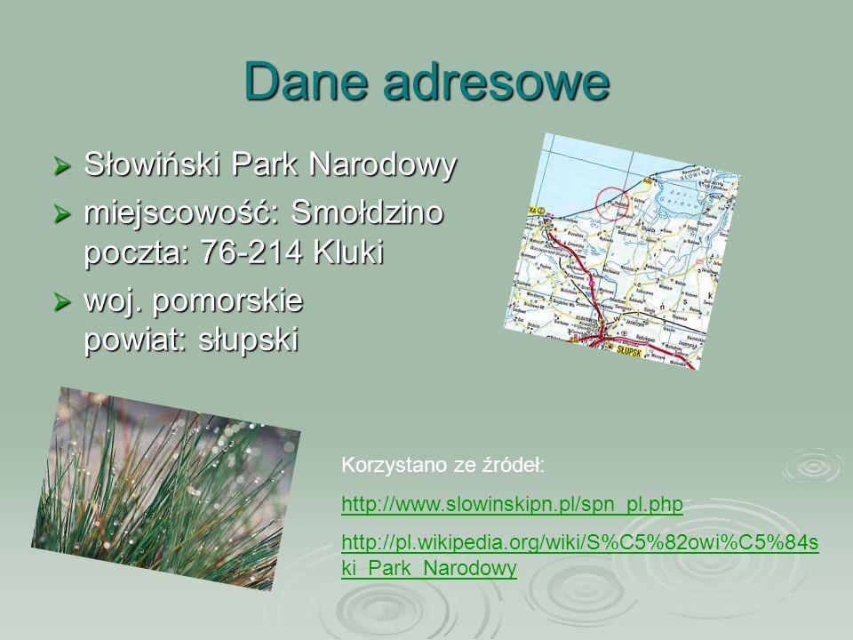 Dane adresowe Słowiński Park Narodowy