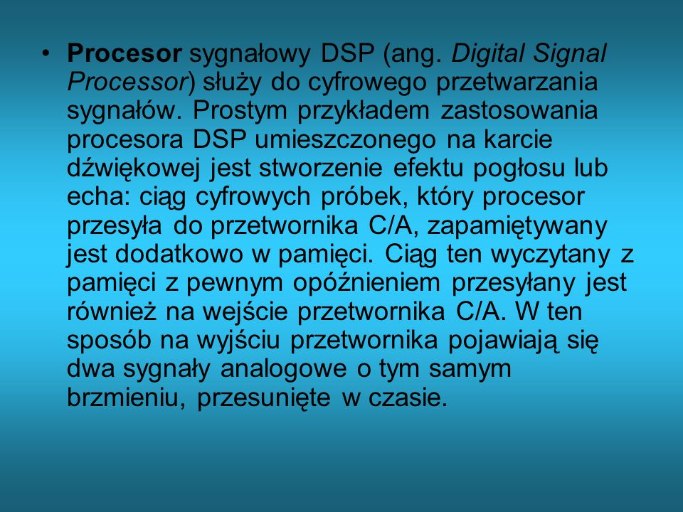 Procesor sygnałowy DSP (ang
