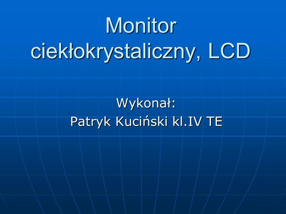 Monitor ciekłokrystaliczny, LCD