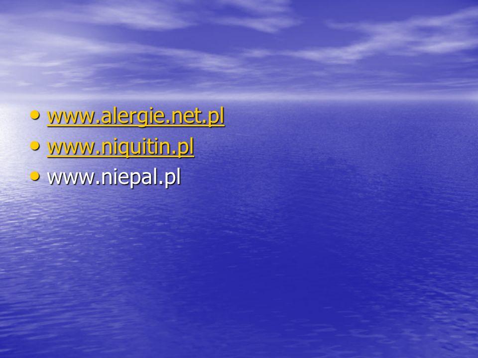 www.alergie.net.pl www.niquitin.pl www.niepal.pl