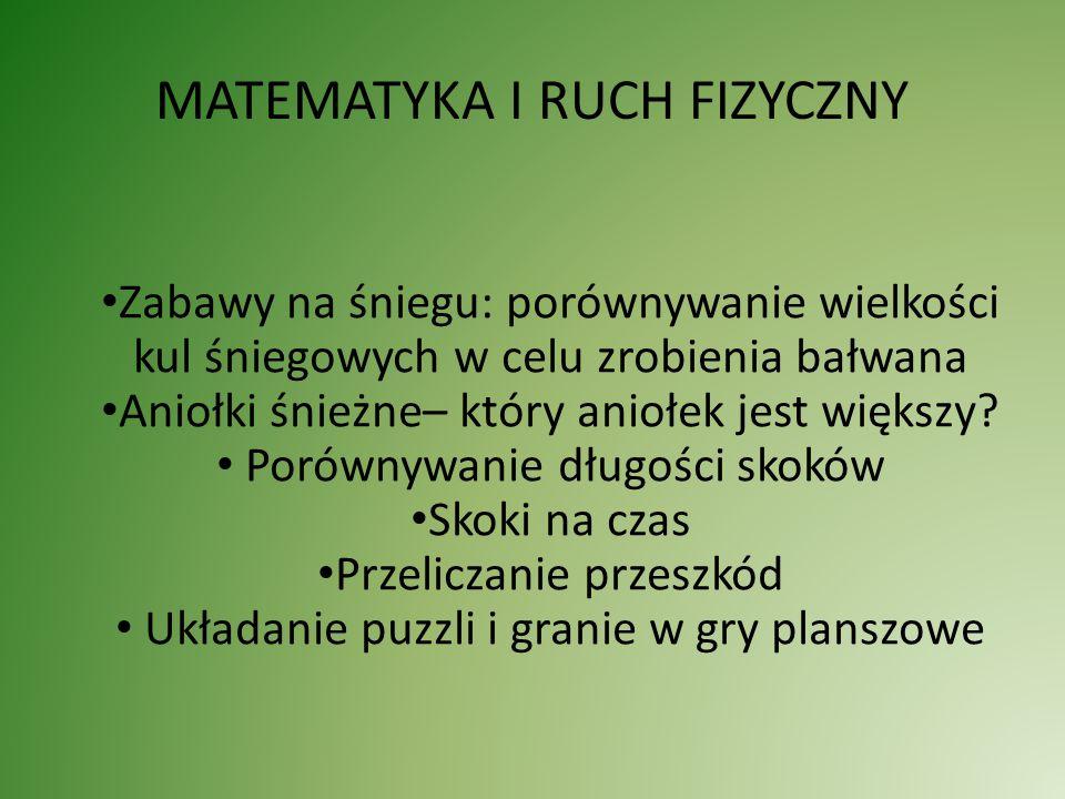 MATEMATYKA I RUCH FIZYCZNY