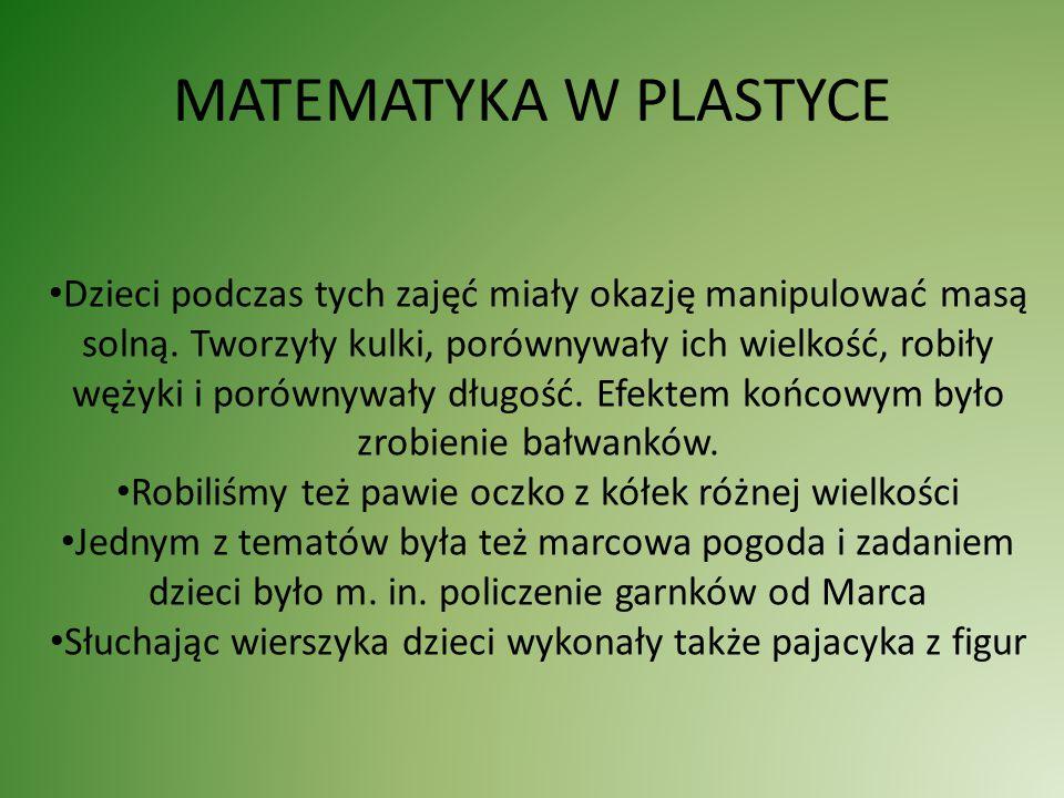 MATEMATYKA W PLASTYCE