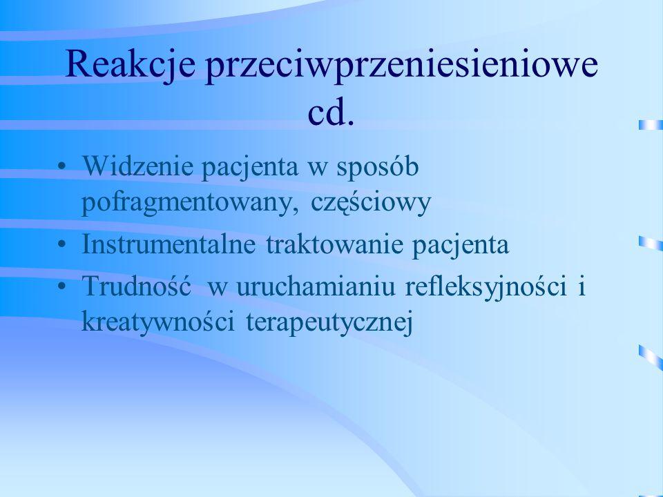 Reakcje przeciwprzeniesieniowe cd.