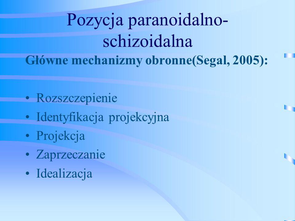 Pozycja paranoidalno- schizoidalna