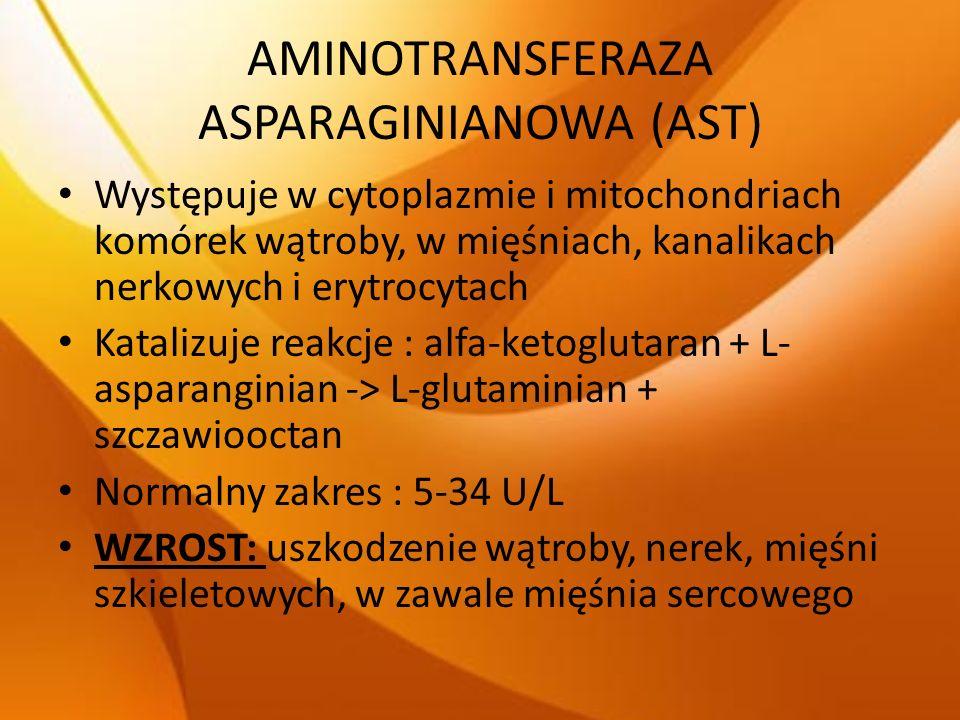 AMINOTRANSFERAZA ASPARAGINIANOWA (AST)