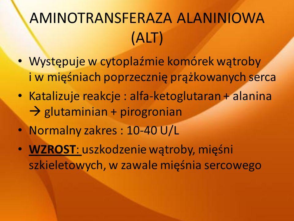 AMINOTRANSFERAZA ALANINIOWA (ALT)