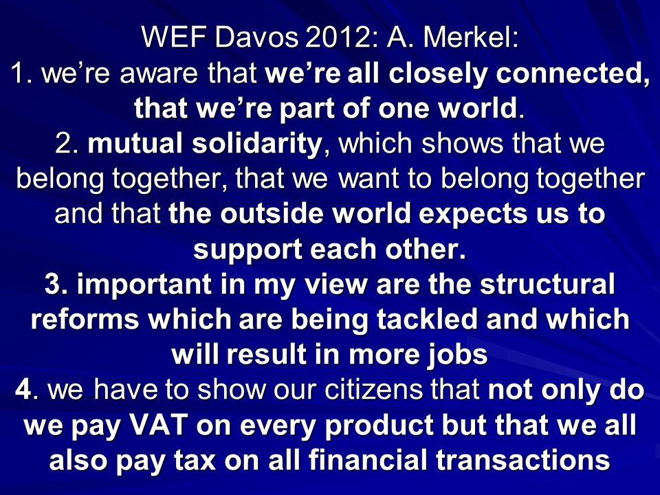 WEF Davos 2012: A. Merkel: 1.