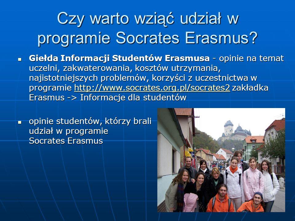 Czy warto wziąć udział w programie Socrates Erasmus