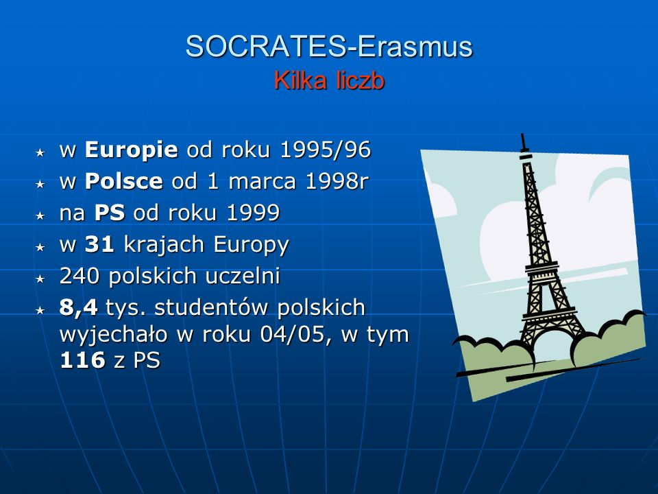SOCRATES-Erasmus Kilka liczb