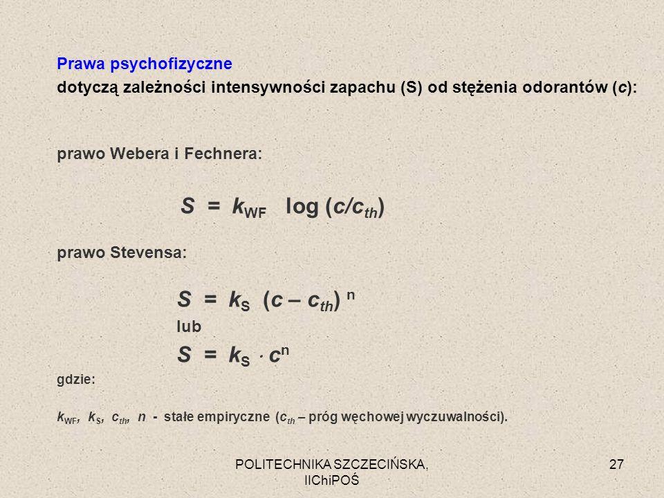 prawo Webera i Fechnera: