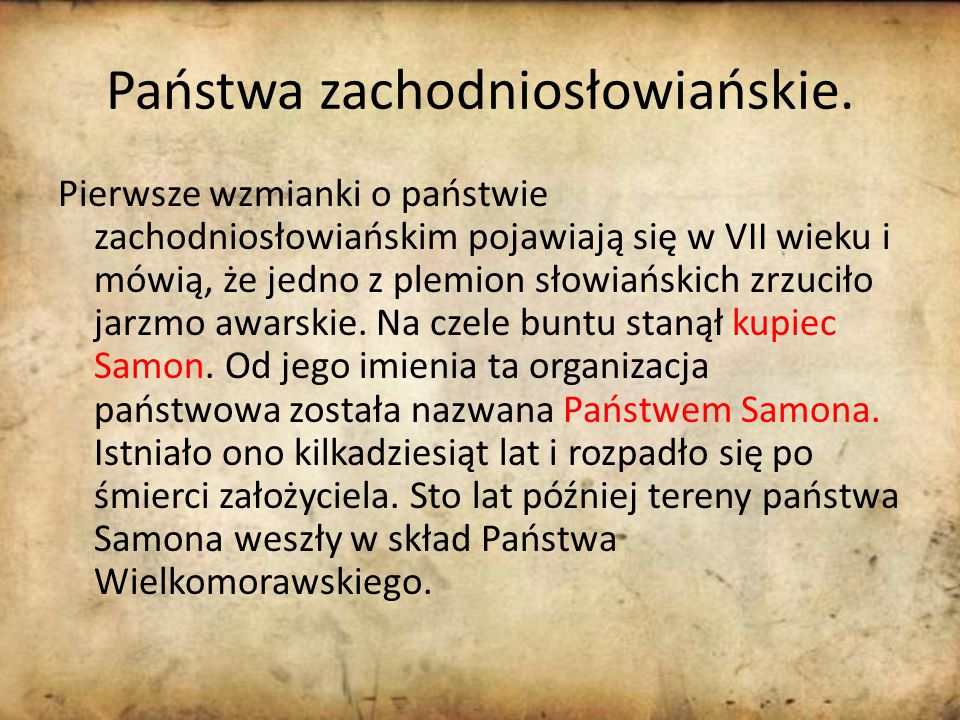Państwa zachodniosłowiańskie.