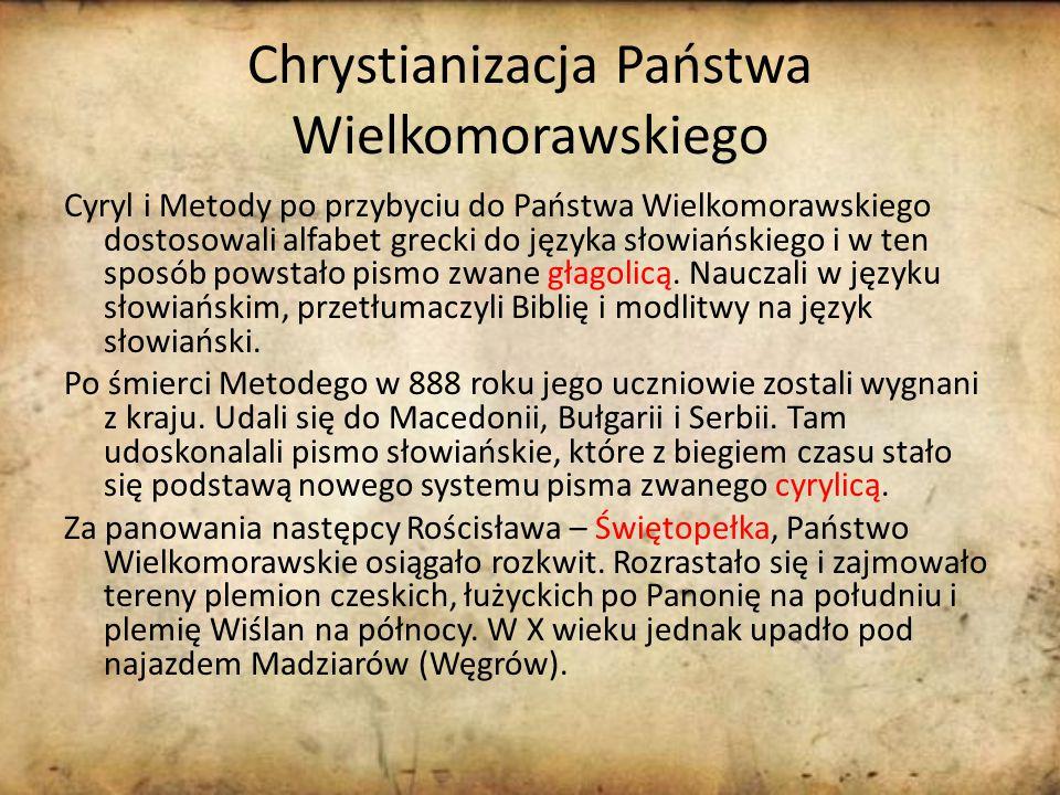 Chrystianizacja Państwa Wielkomorawskiego