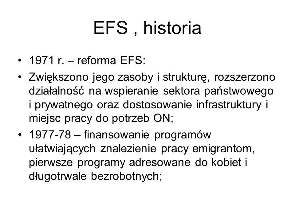 EFS , historia 1971 r. – reforma EFS: