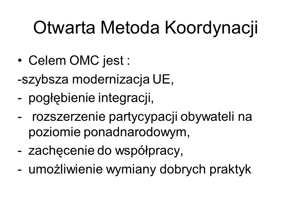 Otwarta Metoda Koordynacji
