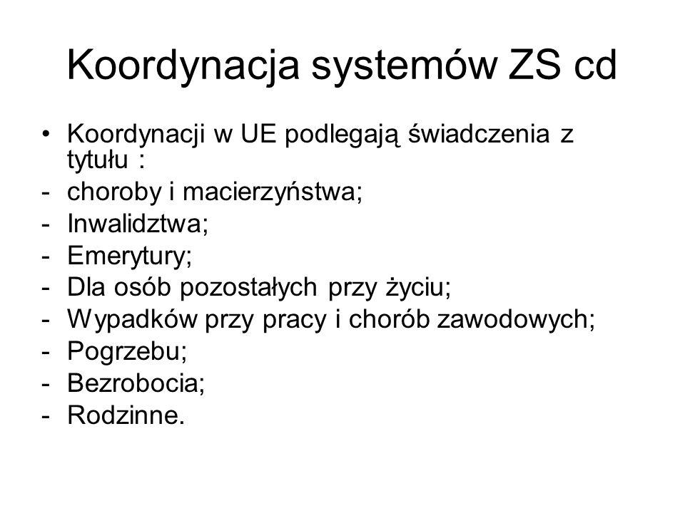 Koordynacja systemów ZS cd