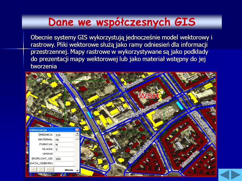Dane we współczesnych GIS