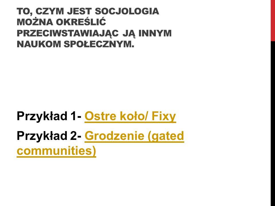 Przykład 1- Ostre koło/ Fixy Przykład 2- Grodzenie (gated communities)