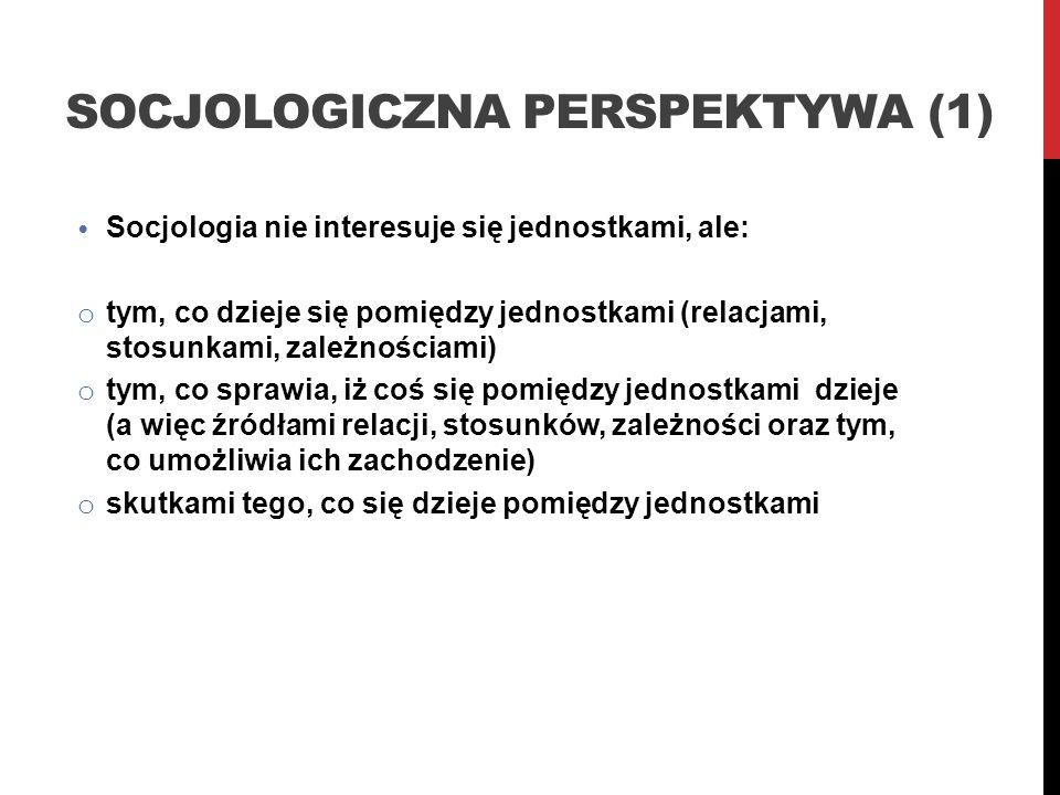 Socjologiczna perspektywa (1)