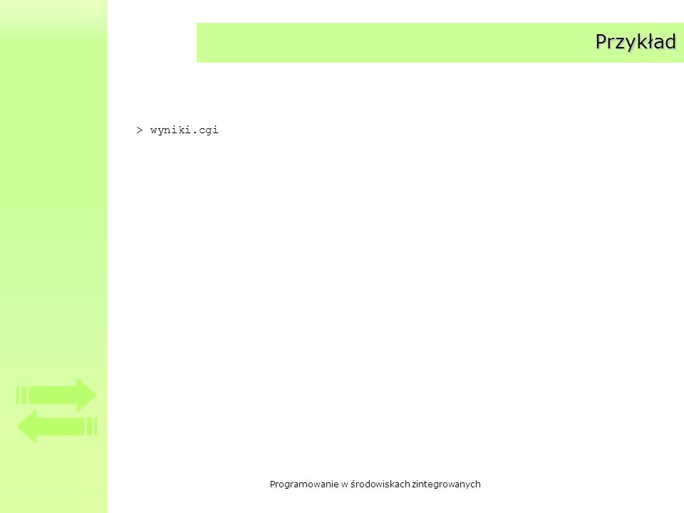 Przykład > wyniki.cgi