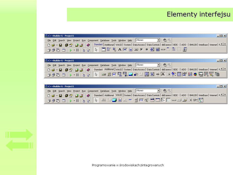 Elementy interfejsu