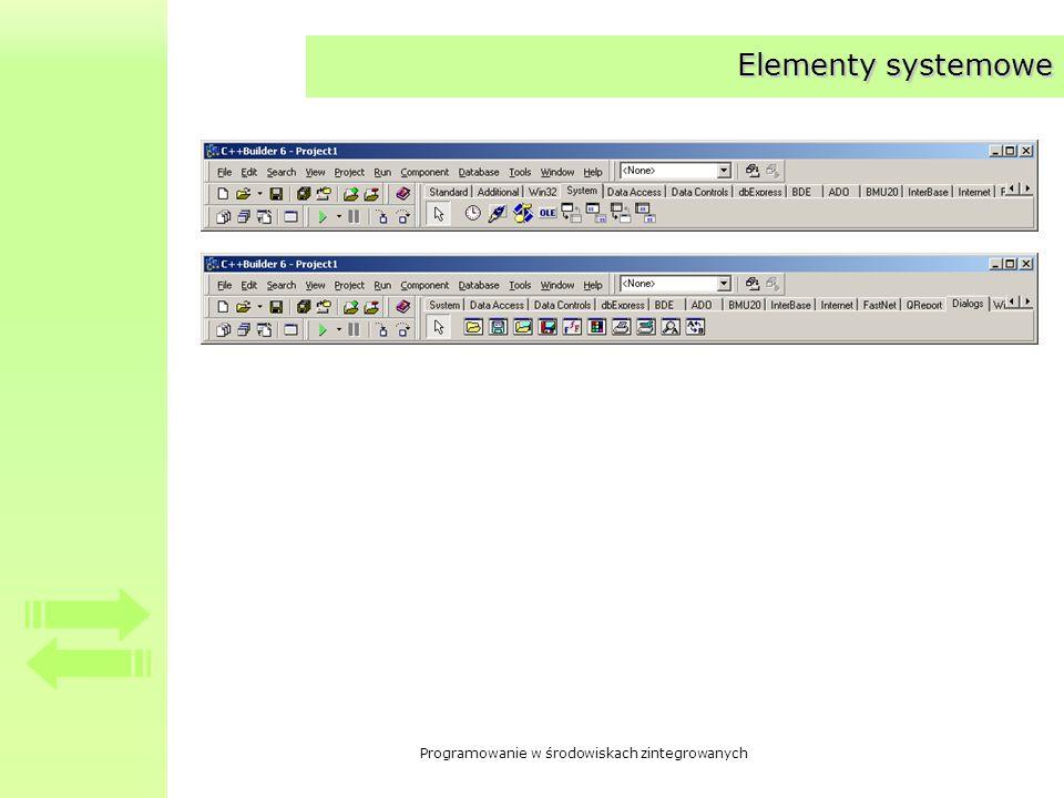 Elementy systemowe
