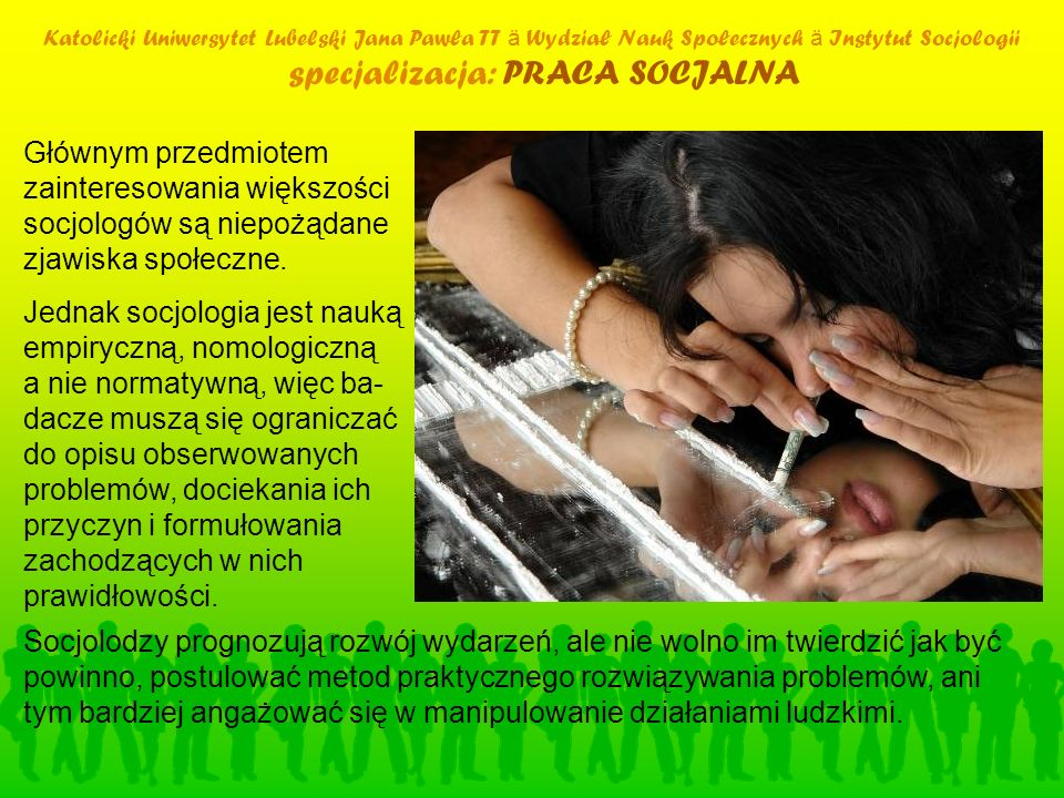 specjalizacja: PRACA SOCJALNA