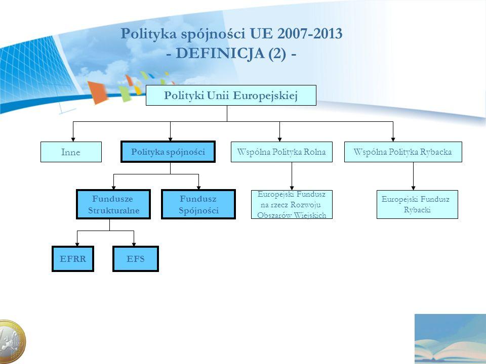 Polityka spójności UE 2007-2013 - DEFINICJA (2) -